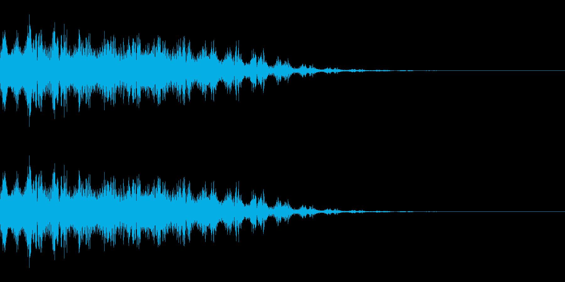 レーザー銃を撃つ音(SF/宇宙/光線)の再生済みの波形