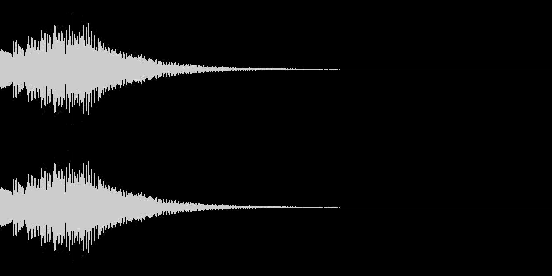 決定/上昇/場面転換の未再生の波形