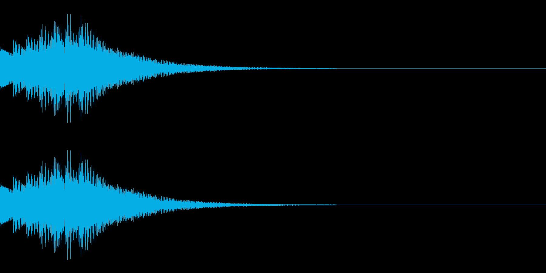 決定/上昇/場面転換の再生済みの波形