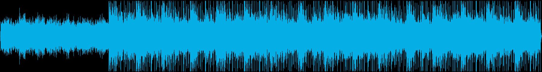 神秘的で荘厳な曲の再生済みの波形