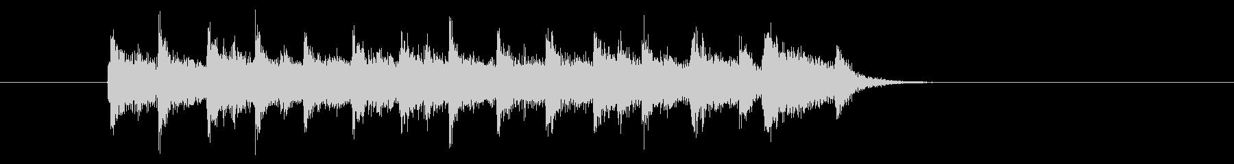 スピーディーでキャッチ―なエレキジングルの未再生の波形