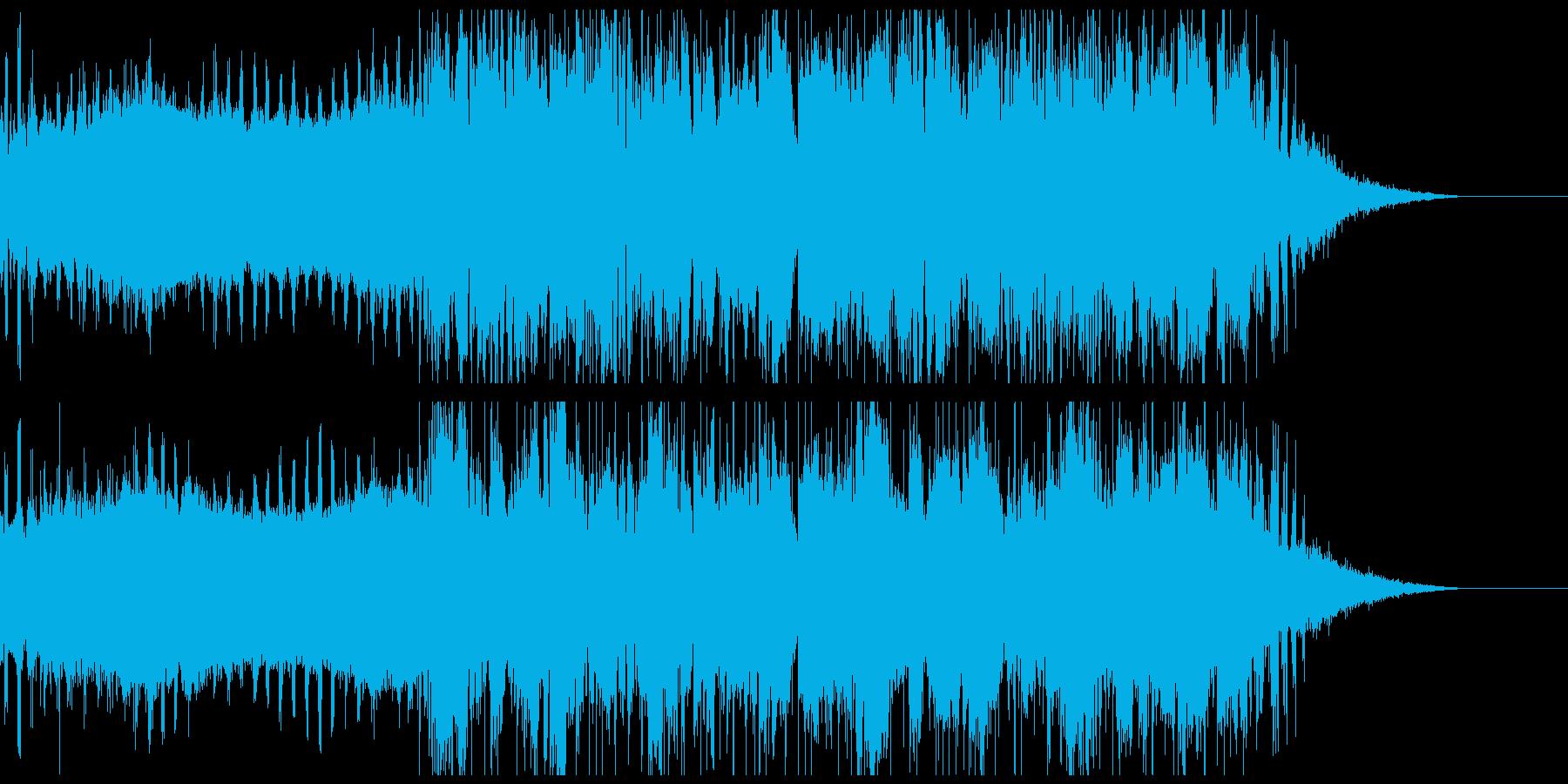 疾走感のあるエレクトロの再生済みの波形