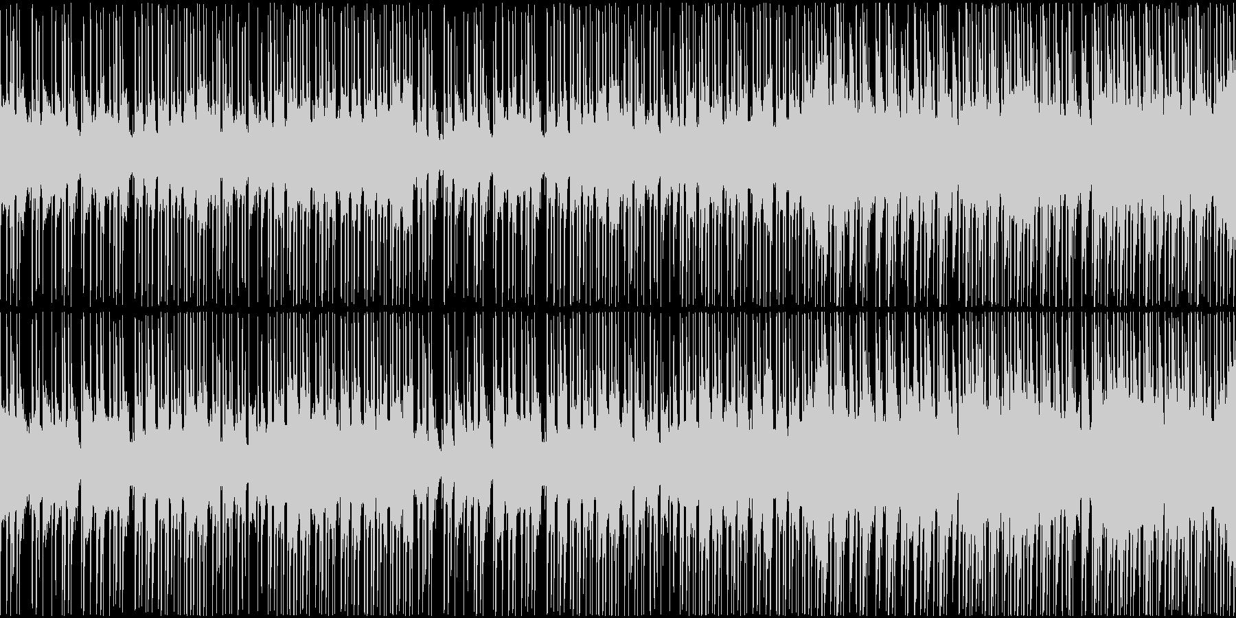 トロピカルな雰囲気のBGMの未再生の波形