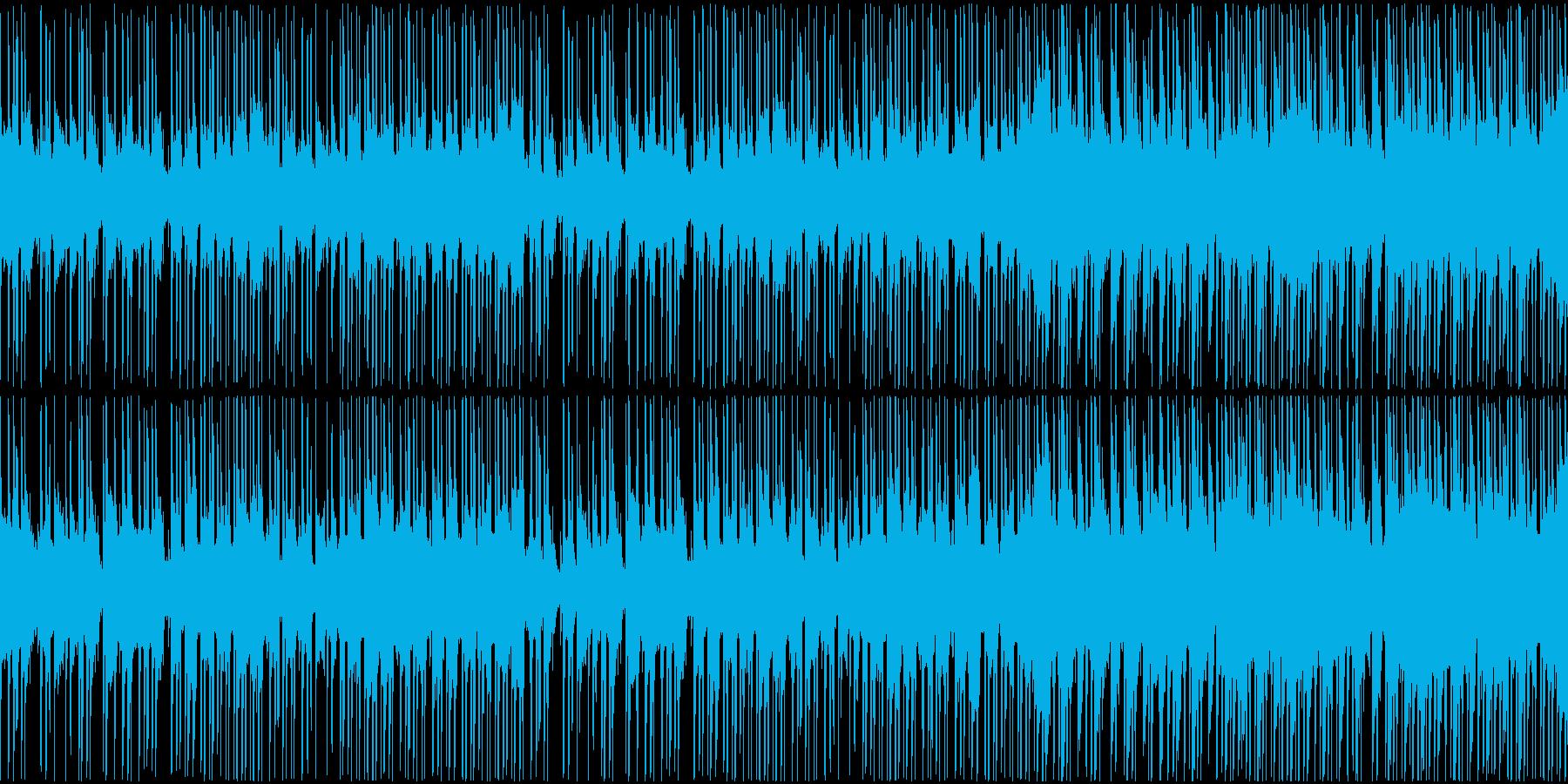 トロピカルな雰囲気のBGMの再生済みの波形