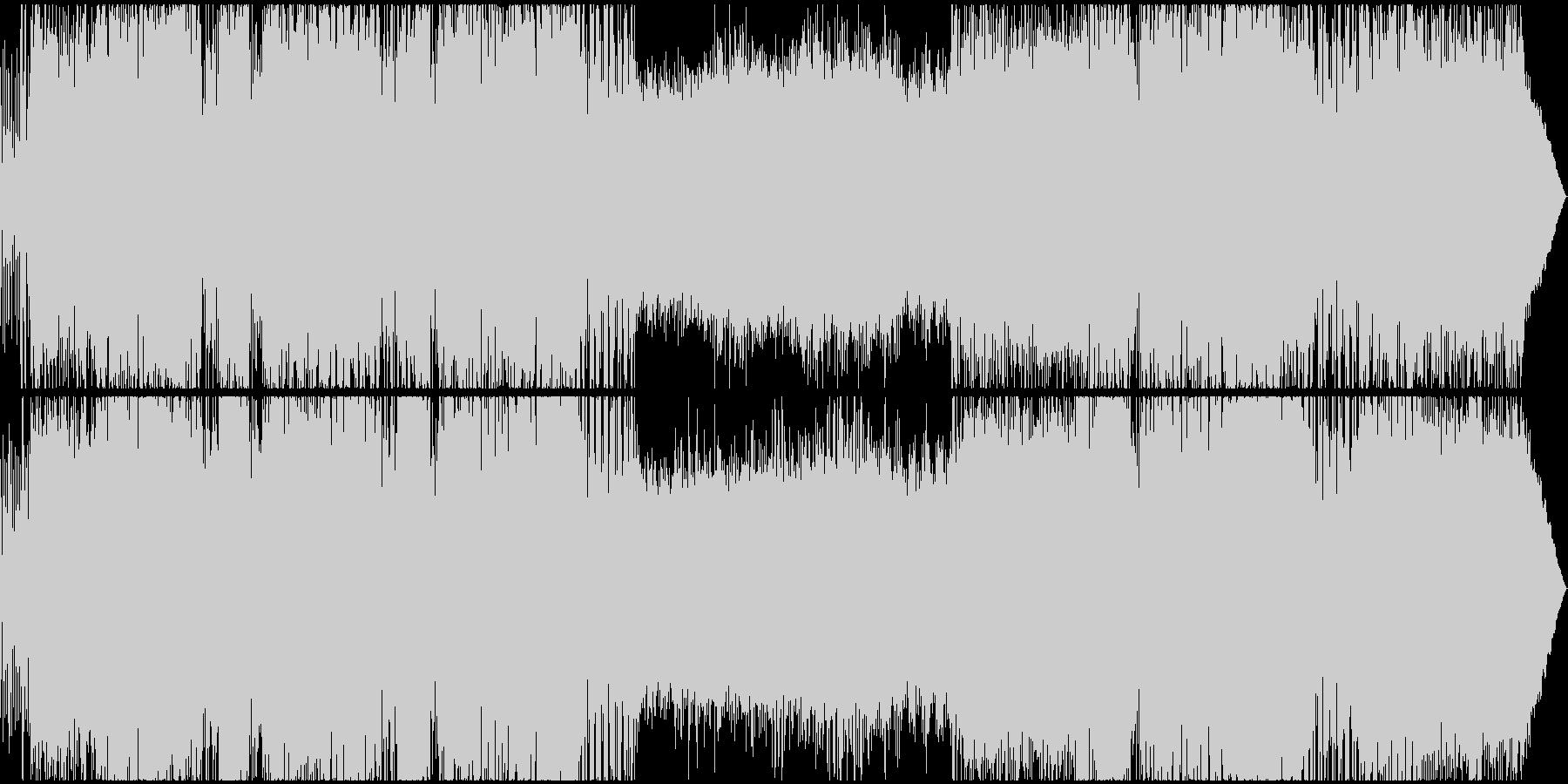 軽快なロック・ポップスの未再生の波形