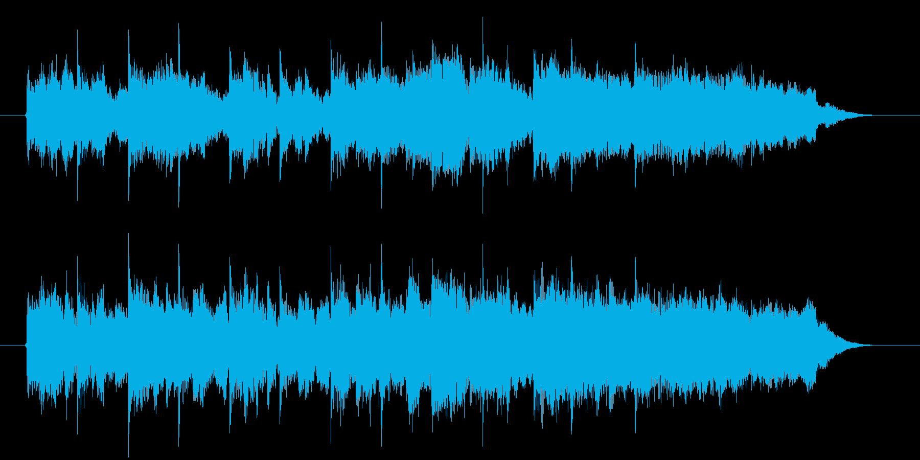 優しく爽やかなシンセサウンド短めの再生済みの波形