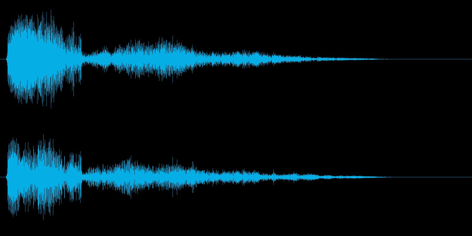マウスオーバーの効果音の再生済みの波形