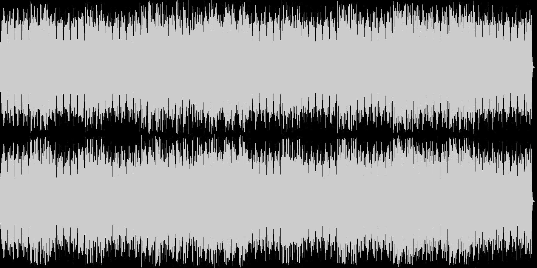 明るくきらめくシンセサイザーサウンドの未再生の波形