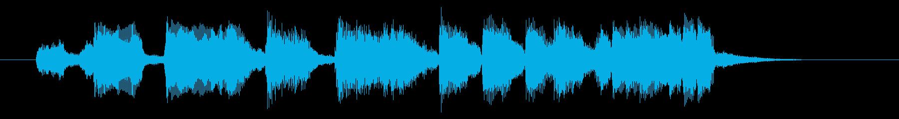 スローテンポの和風アニメの挿入曲の再生済みの波形