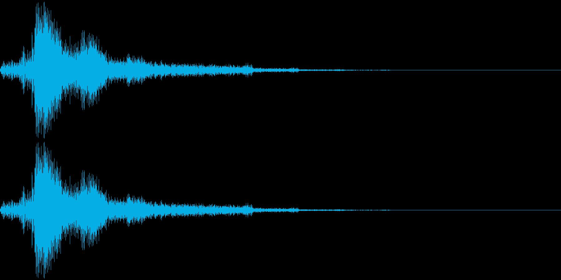 「アニメのアクションシーン2」に剣撃の…の再生済みの波形