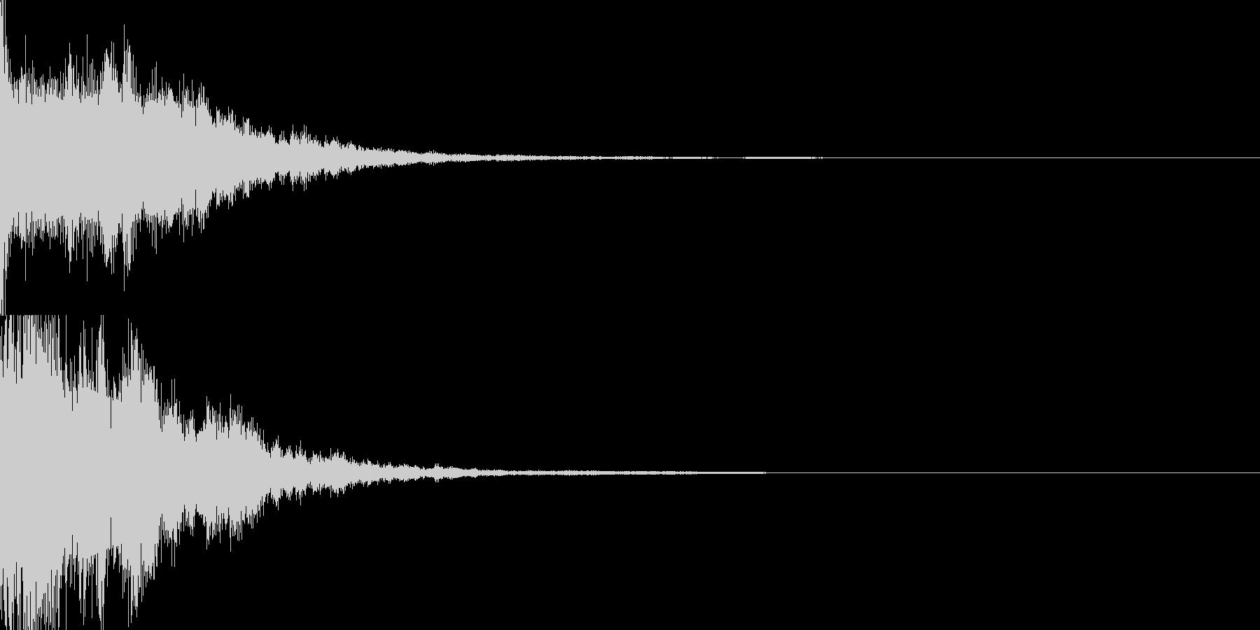 決定音60_シンセZの未再生の波形