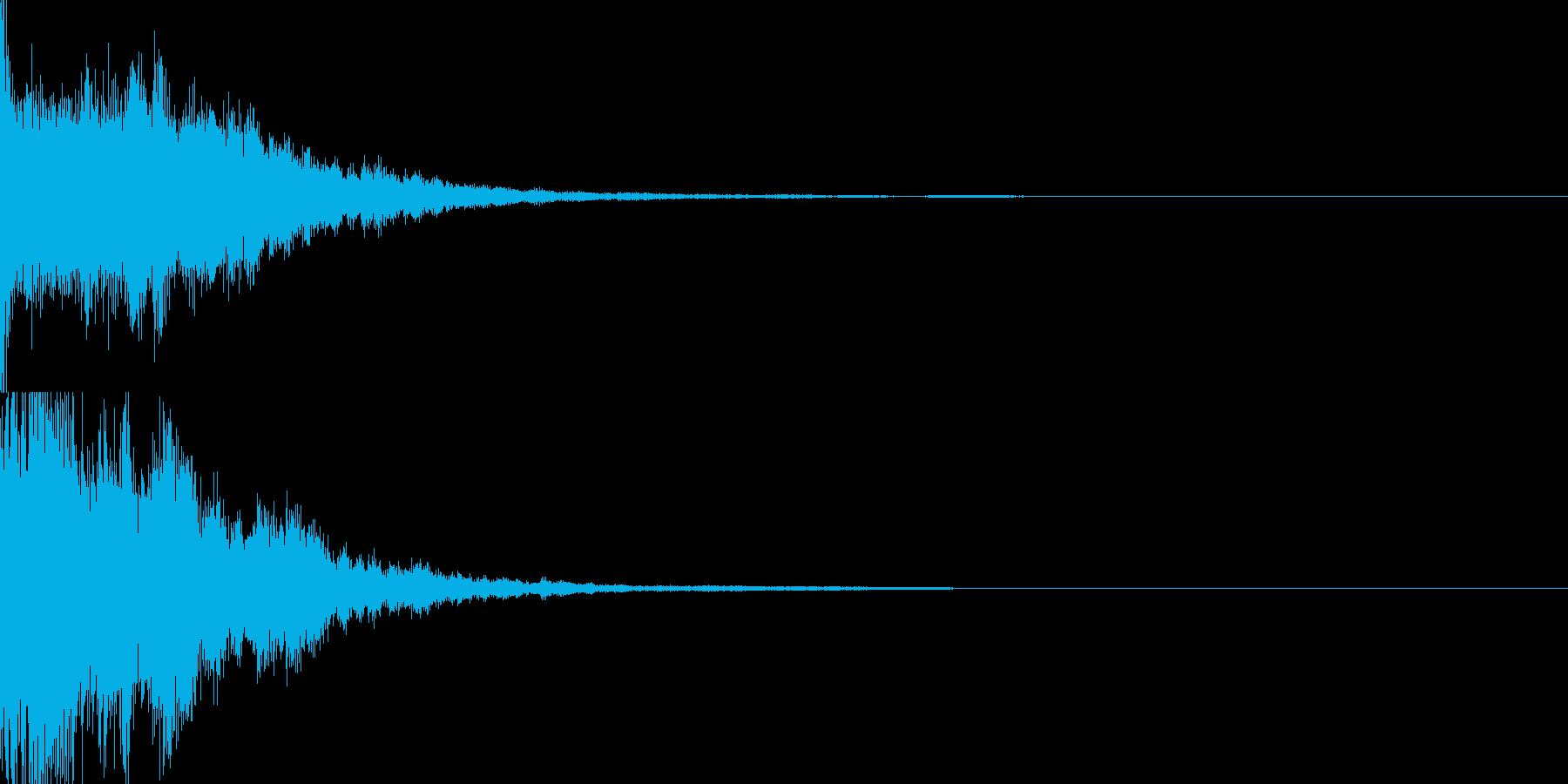 決定音60_シンセZの再生済みの波形