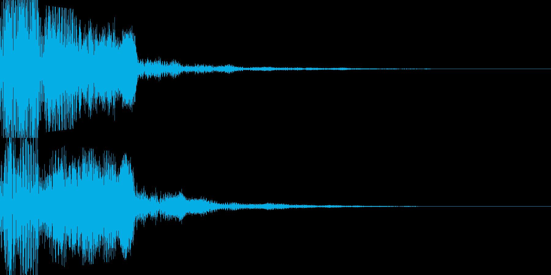 キラキラしたボタン音の再生済みの波形