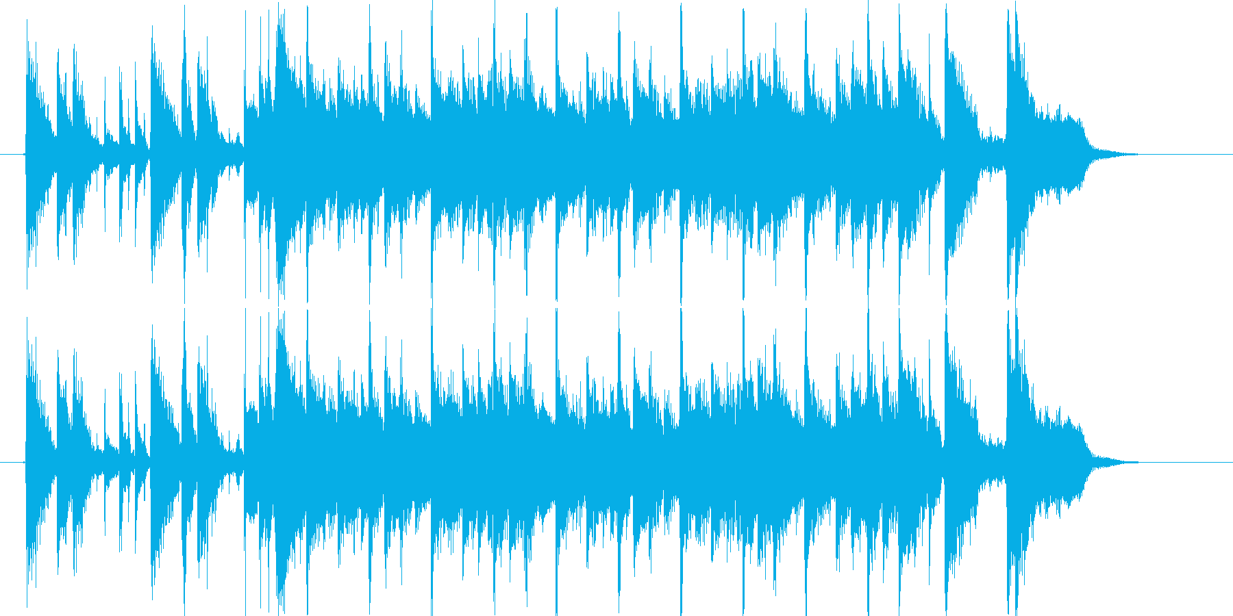 明るくおしゃれシンセテクノサウンドの再生済みの波形