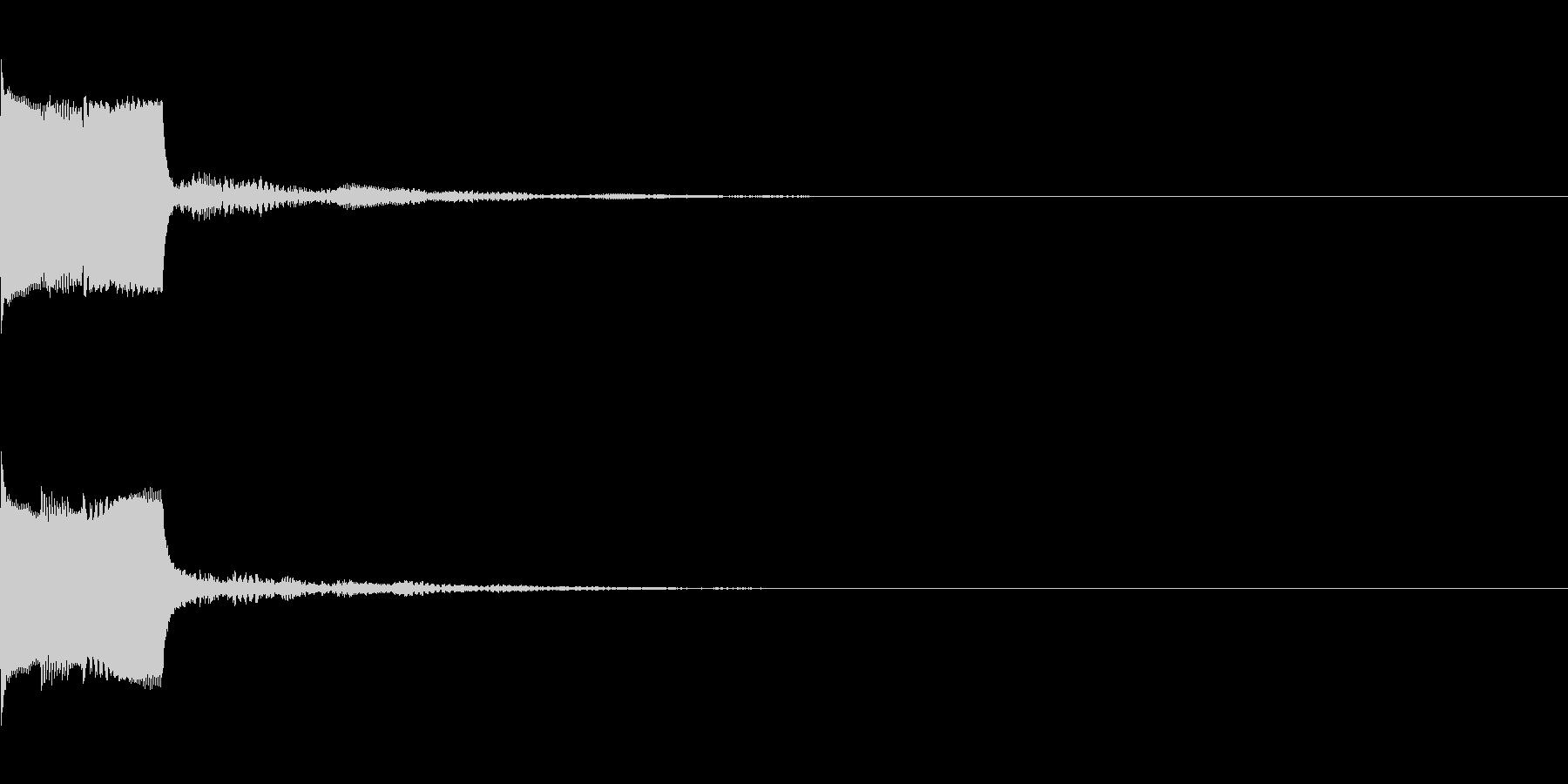 決定音29(シンセO)の未再生の波形