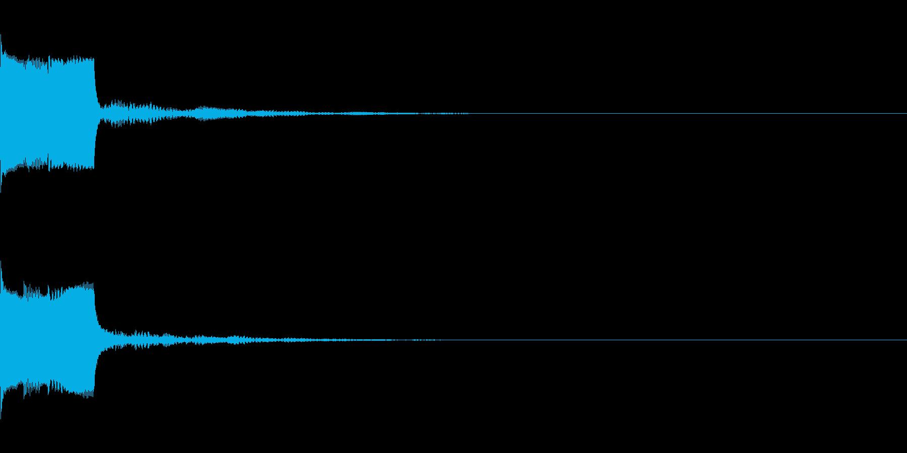 決定音29(シンセO)の再生済みの波形