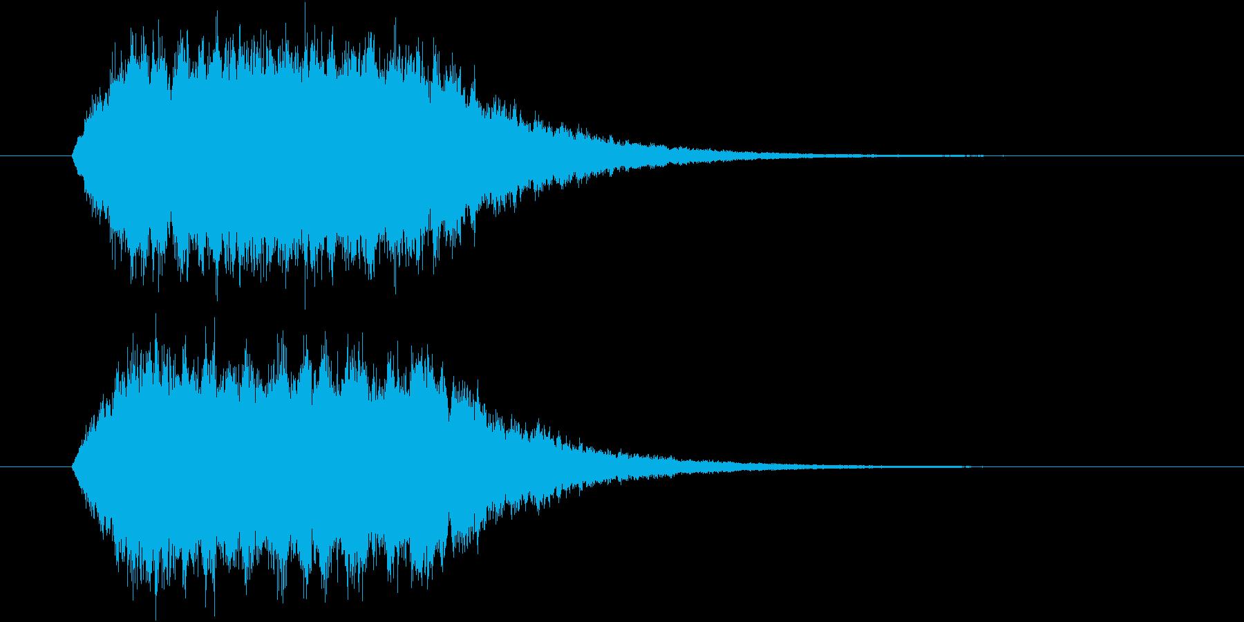 ワープ・光属性魔法の効果音(キーン)の再生済みの波形