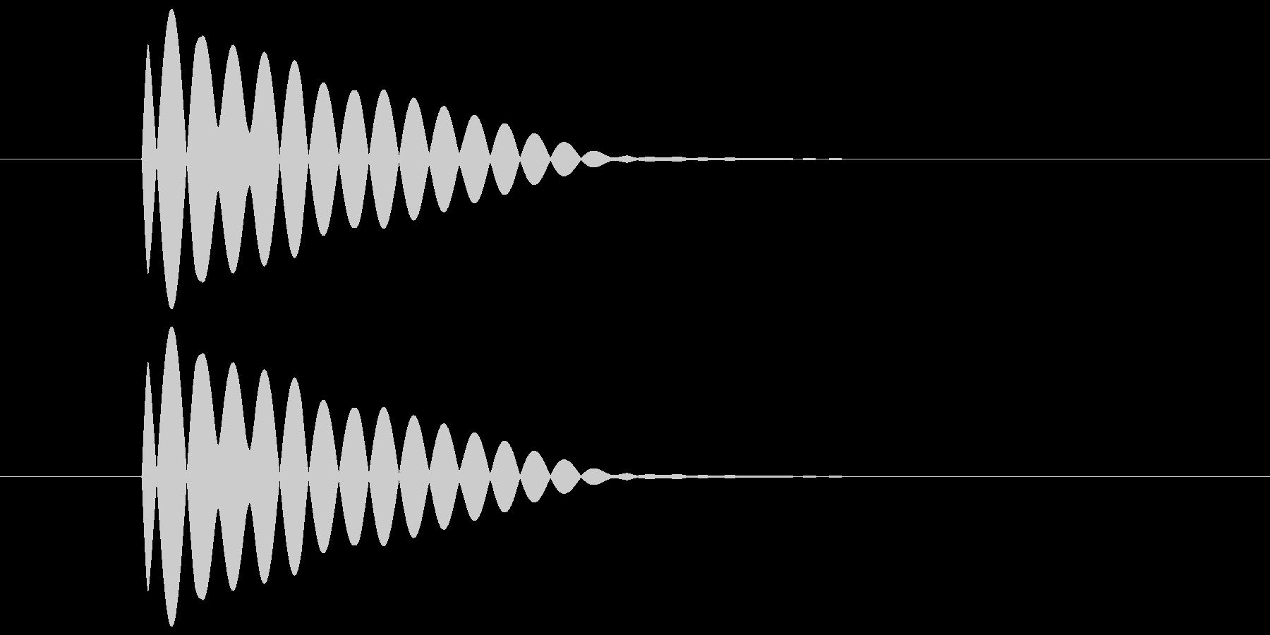 ポーン(透明感のある余韻のある音) 02の未再生の波形