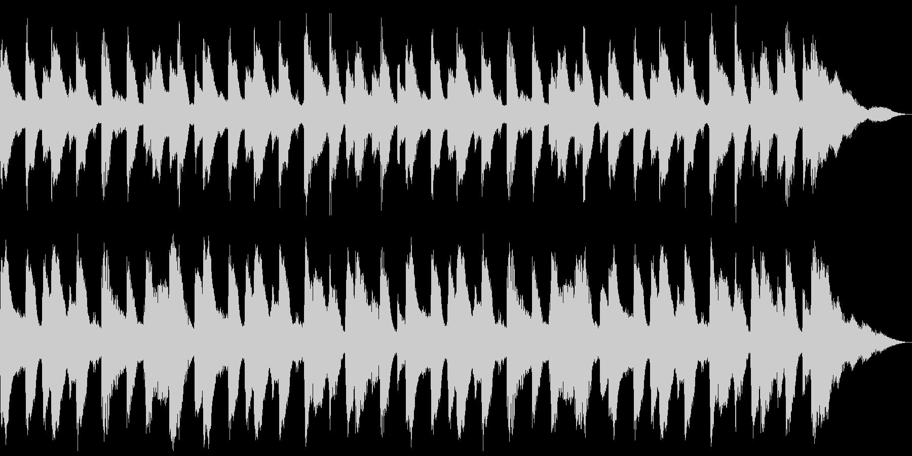 18秒 ほのぼのしたピアノとドラムの未再生の波形