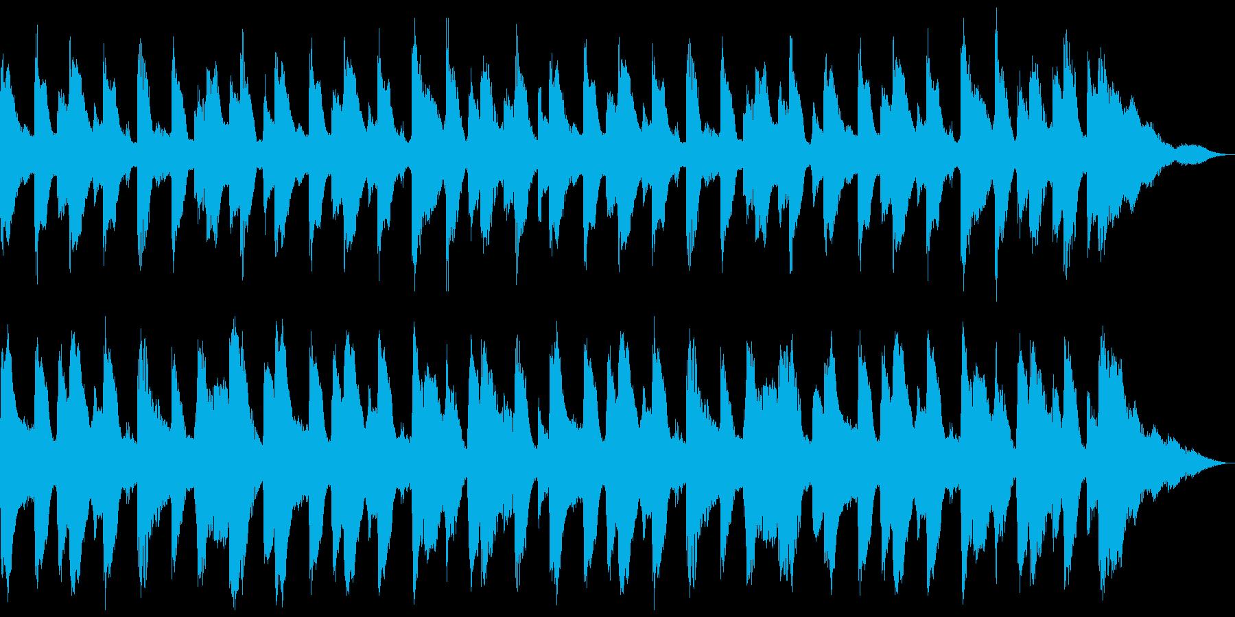 18秒 ほのぼのしたピアノとドラムの再生済みの波形