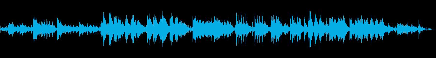 海の音をバックにピアノソロ。ゲームや映像の再生済みの波形