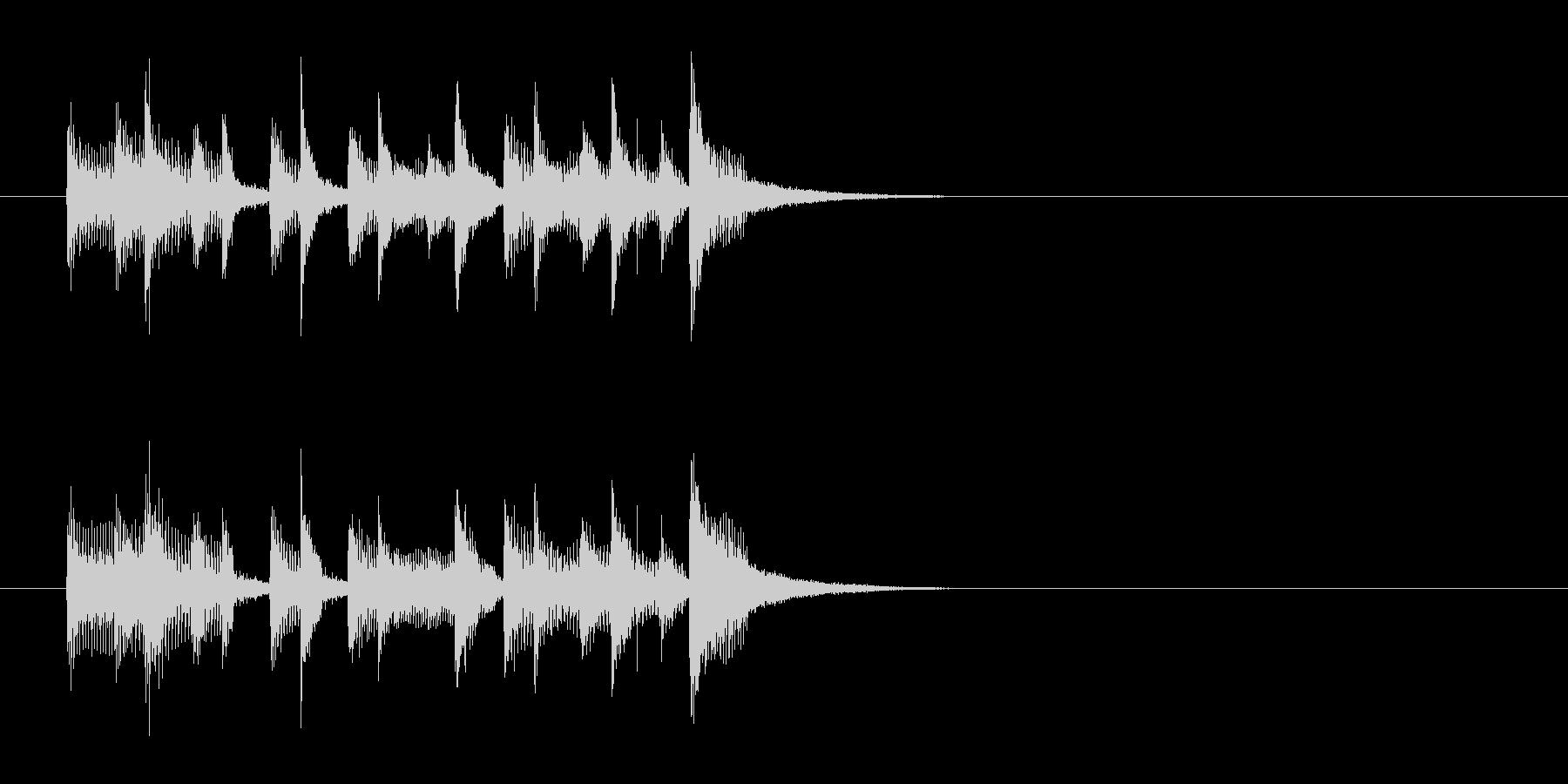 ジングル(レゲエ)の未再生の波形