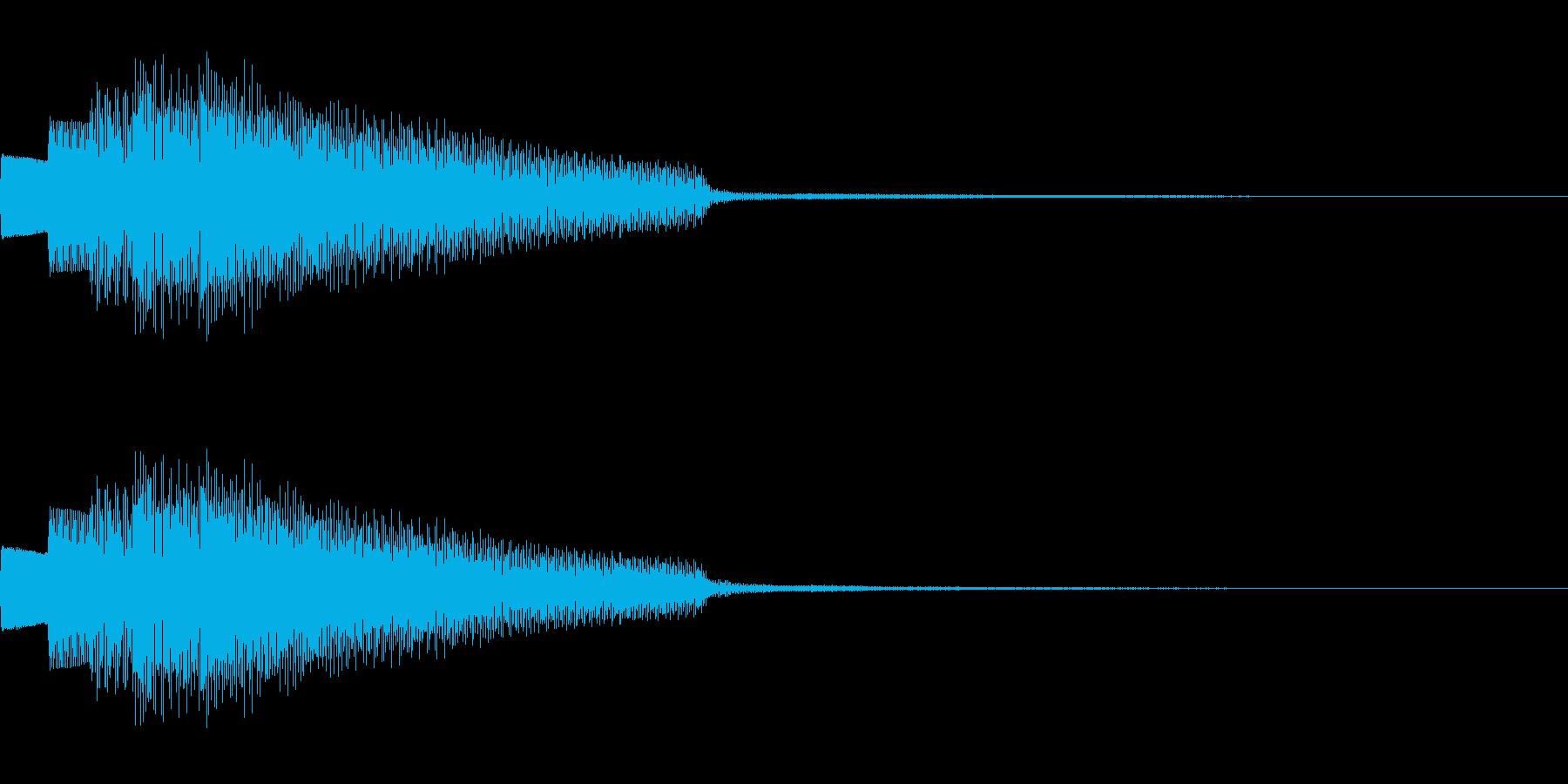 楽器 エレピ アルペジオ ボタンの再生済みの波形