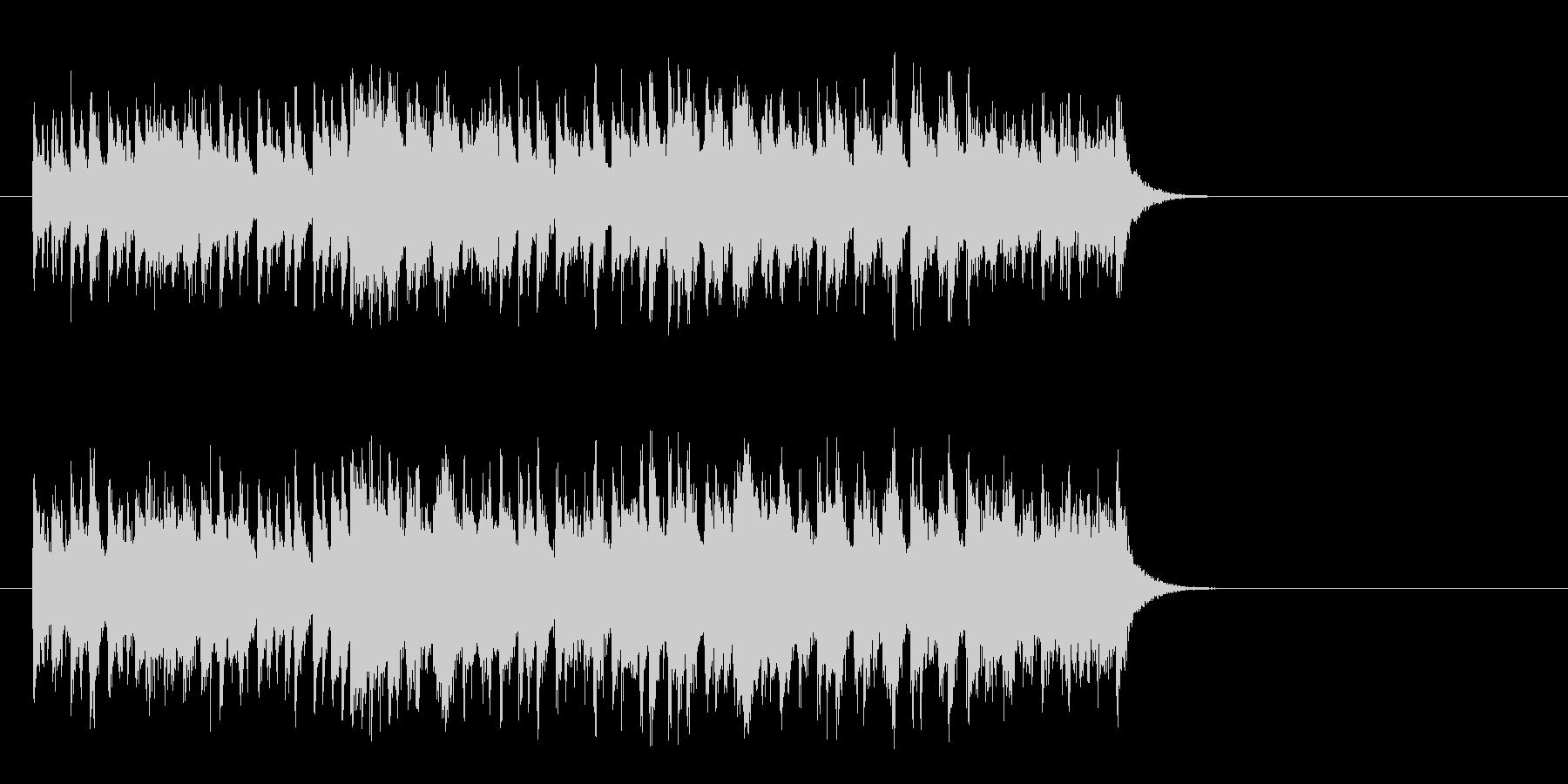 軽快なガールズポップス(Aメロ)の未再生の波形