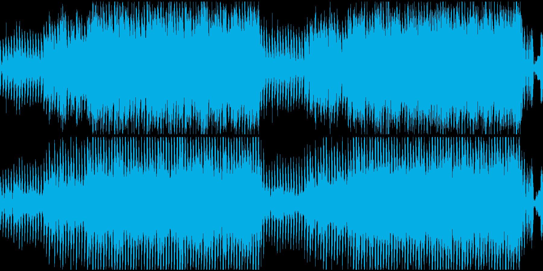 エレピとシンセメロのループ曲の再生済みの波形