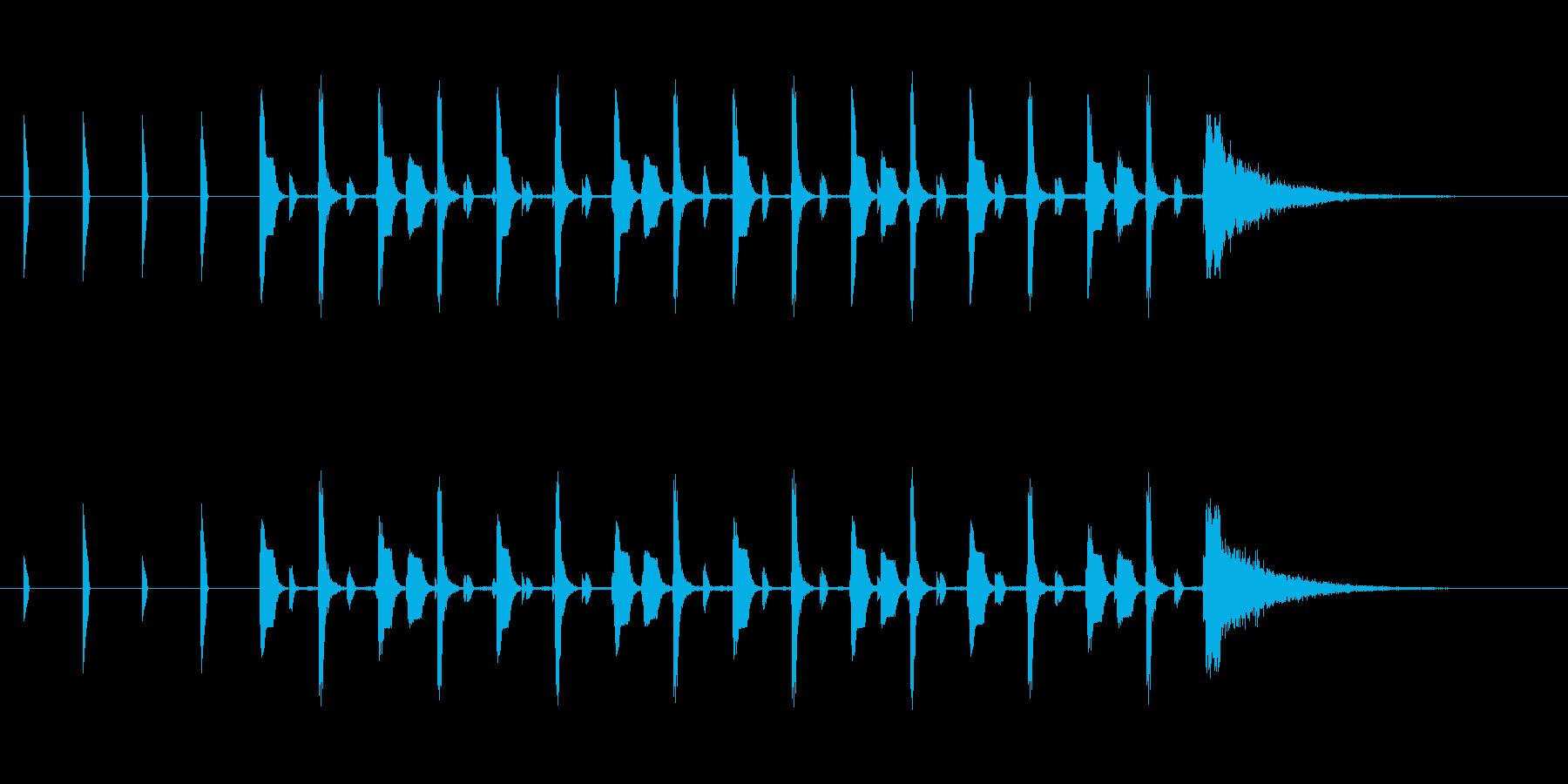 シンキングタイム約10秒ピコピコサウンドの再生済みの波形