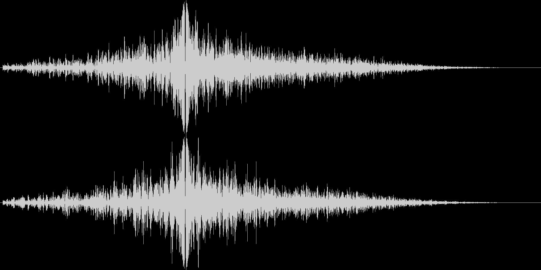 グゥオン(インパクト)の未再生の波形