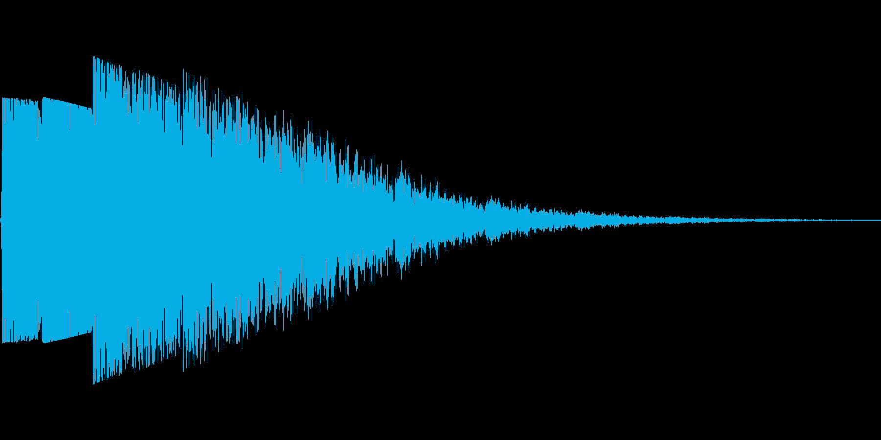 パワーのある決定音の再生済みの波形