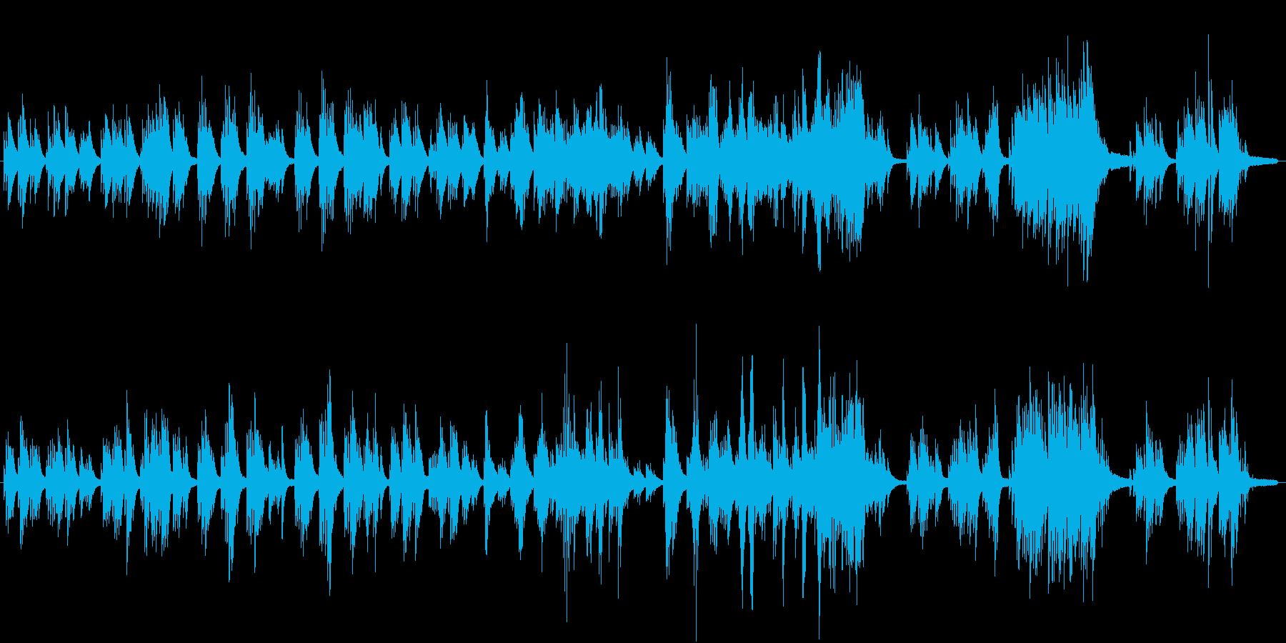 少し切ないピアノメロディ和風3拍子の再生済みの波形