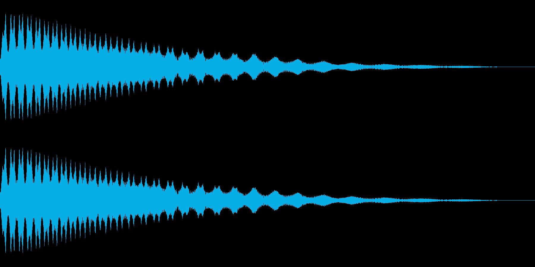 ピュルルルル↓_UFOが失速、墜落する音の再生済みの波形