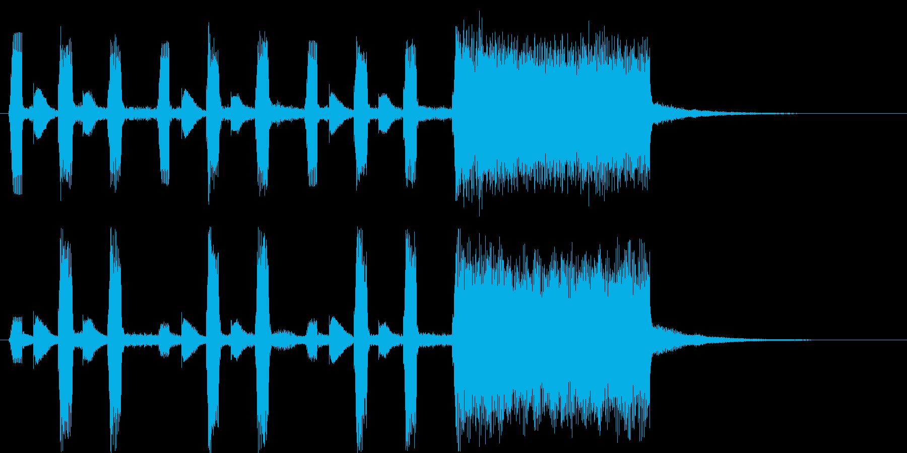 ポップで弾みのあるオルガンの音の再生済みの波形