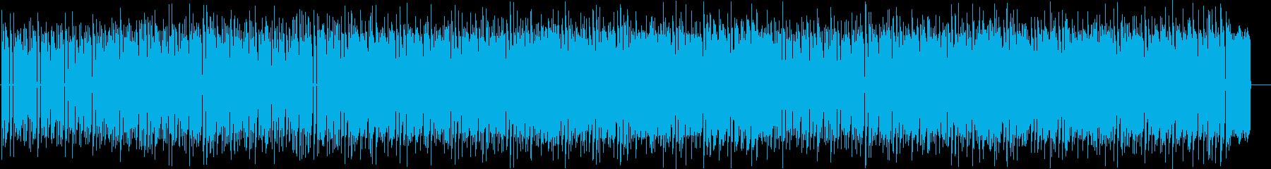ファミコンのシューティングゲームの様な曲の再生済みの波形