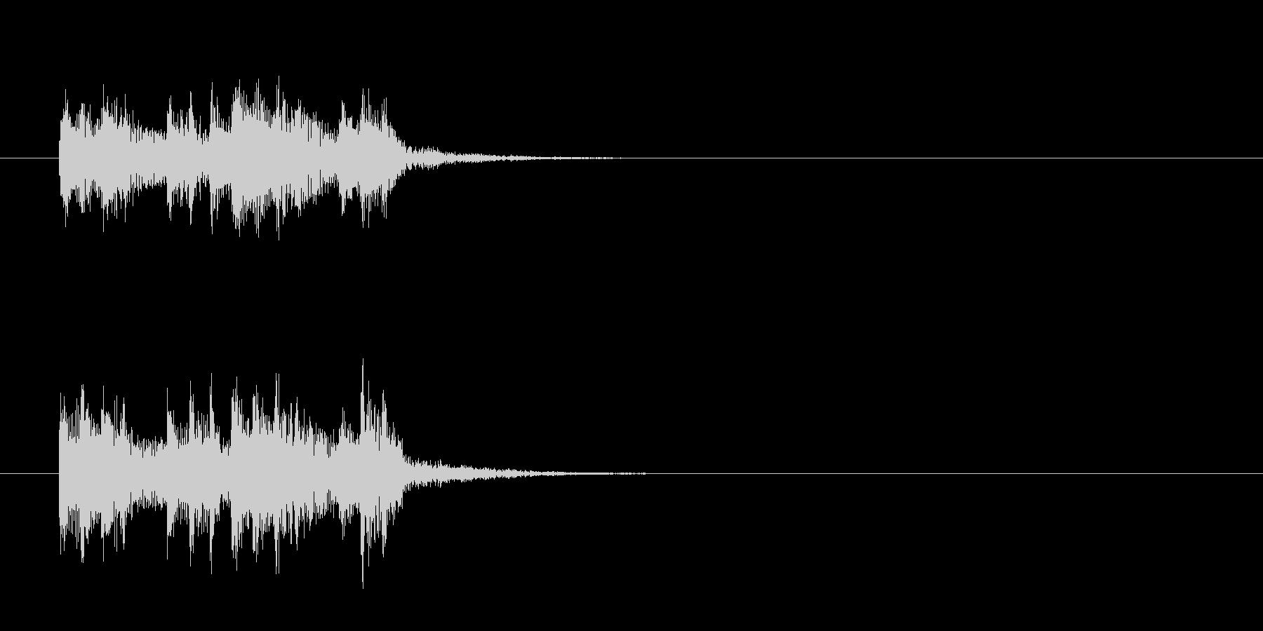 ジングル(ネオ・アコースティック調)の未再生の波形