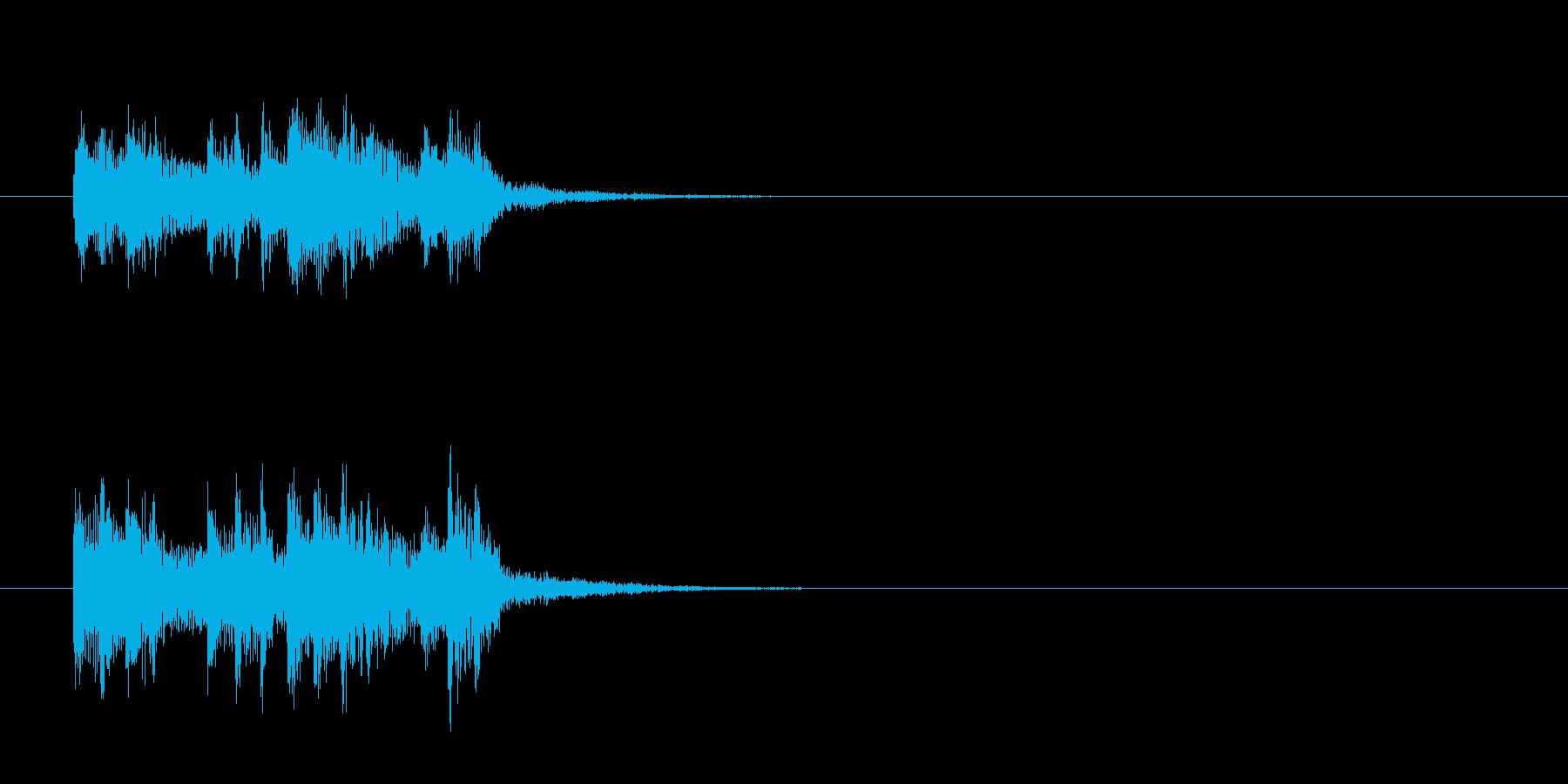 ジングル(ネオ・アコースティック調)の再生済みの波形