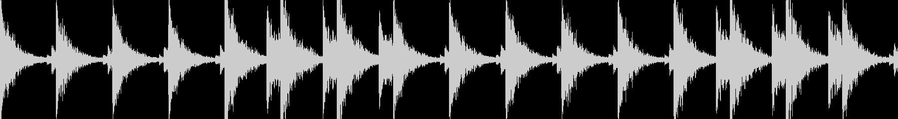幻想的なBGMの未再生の波形