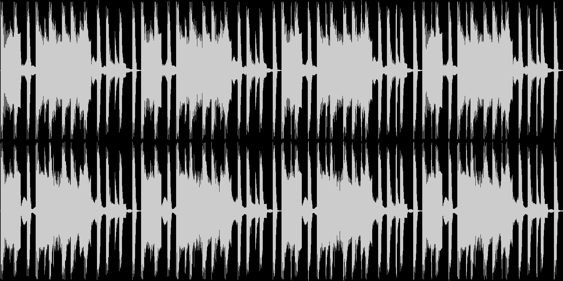 暗い曲ですの未再生の波形