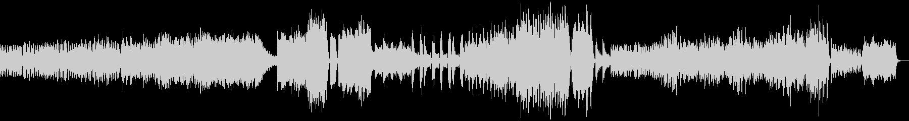 不安を感じるドロドロとしたBGMの未再生の波形