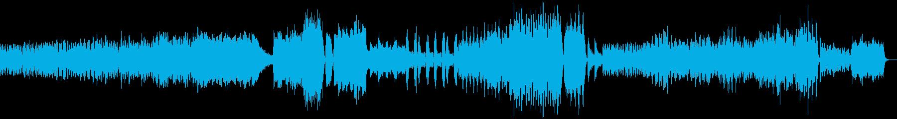 不安を感じるドロドロとしたBGMの再生済みの波形