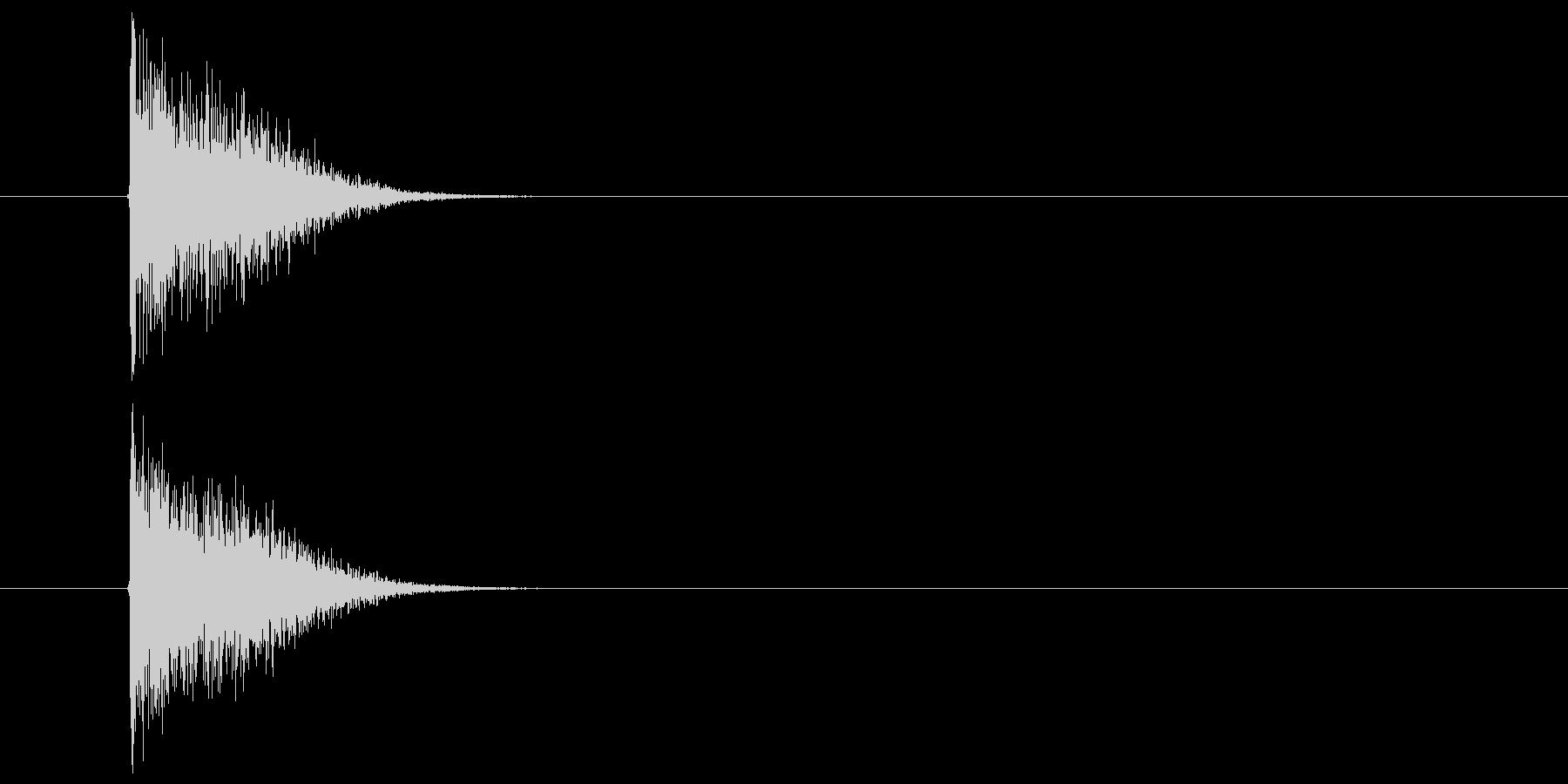 打撃音(竹刀)の未再生の波形