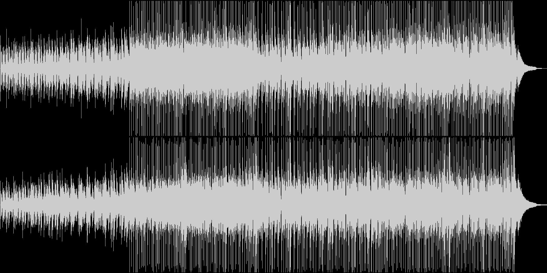 さわやかでオシャレなアニメ風のBGMの未再生の波形