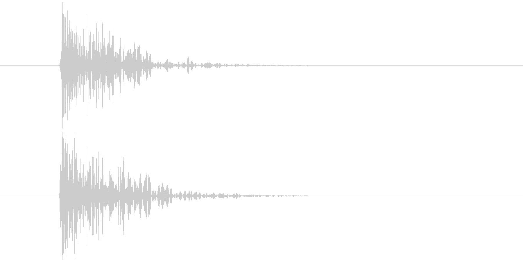 デフォルメされた岩をぶつける音の未再生の波形