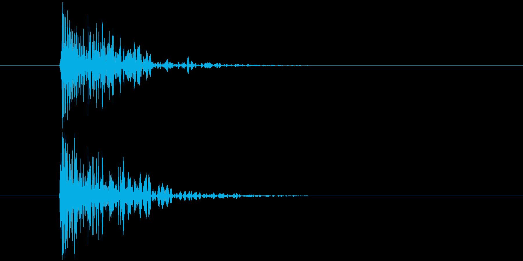 デフォルメされた岩をぶつける音の再生済みの波形
