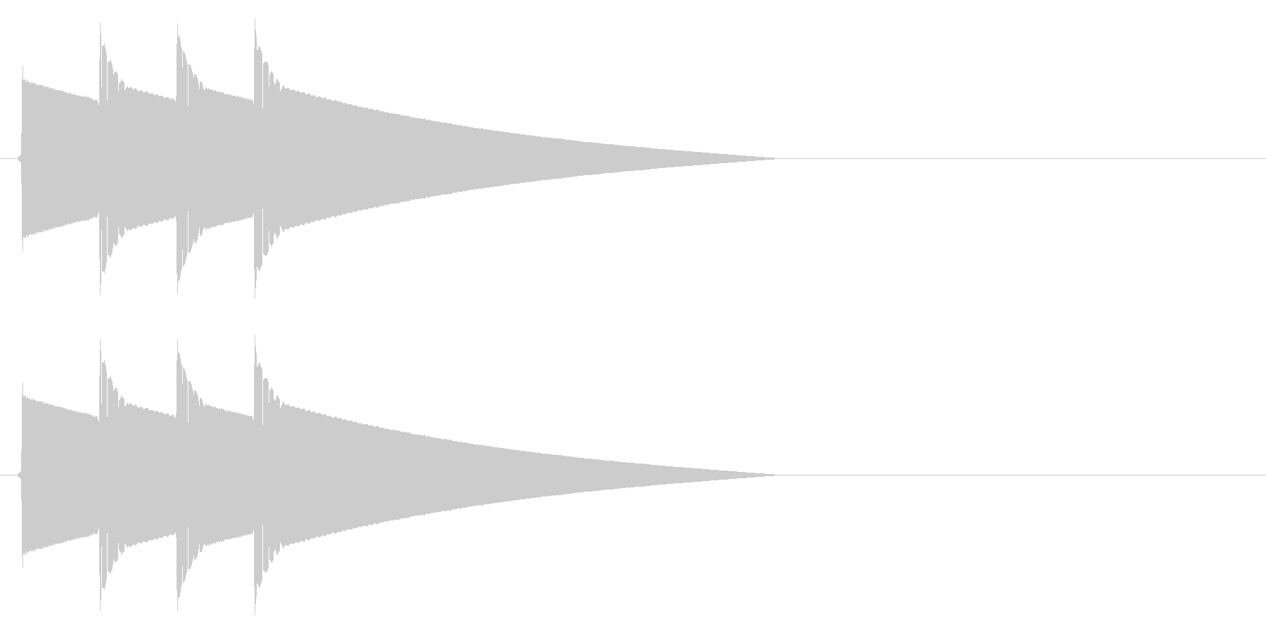ピポピポーン(正解)の未再生の波形