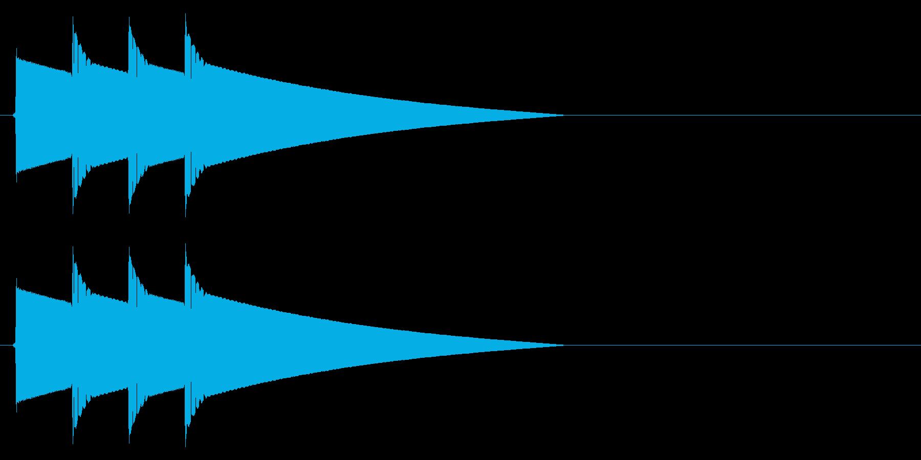 ピポピポーン(正解)の再生済みの波形