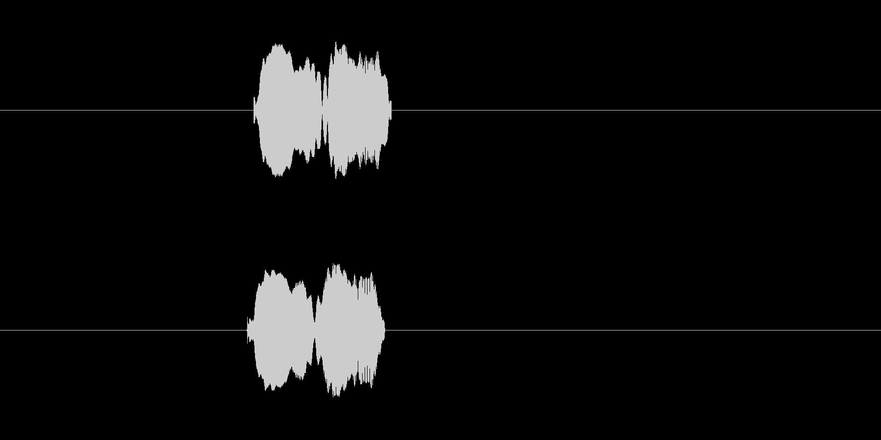 ピィロ(悲鳴)の未再生の波形