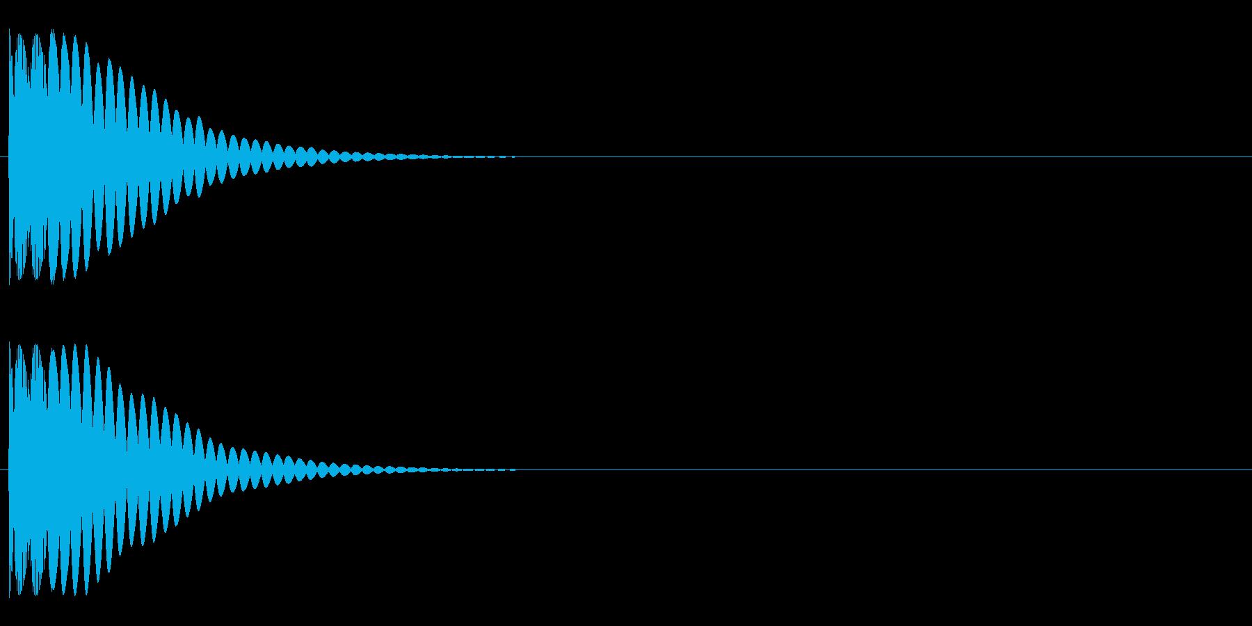 システム系スタート音の再生済みの波形